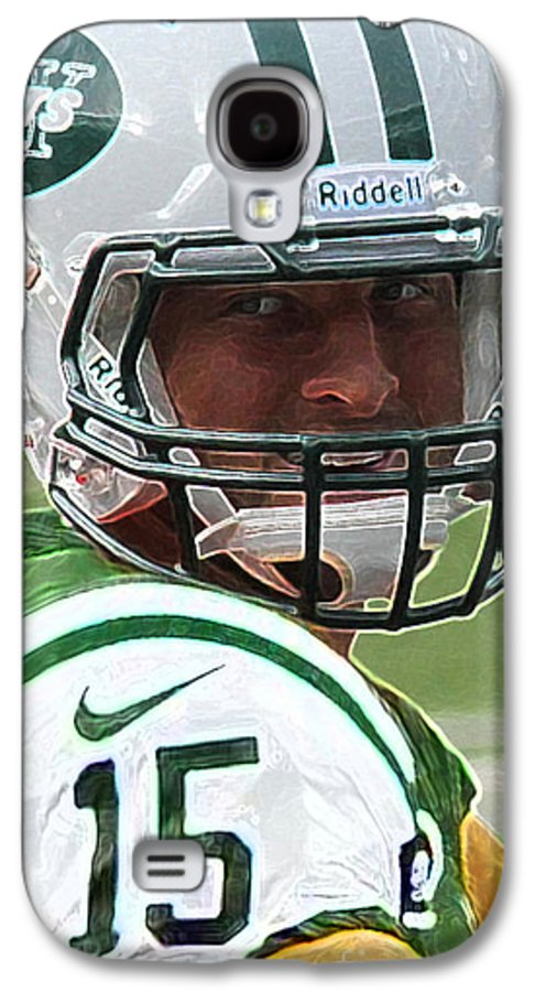 Lee Dos Santos Galaxy S4 Case featuring the photograph Tim Tebow Art Deco - New York Jets - by Lee Dos Santos