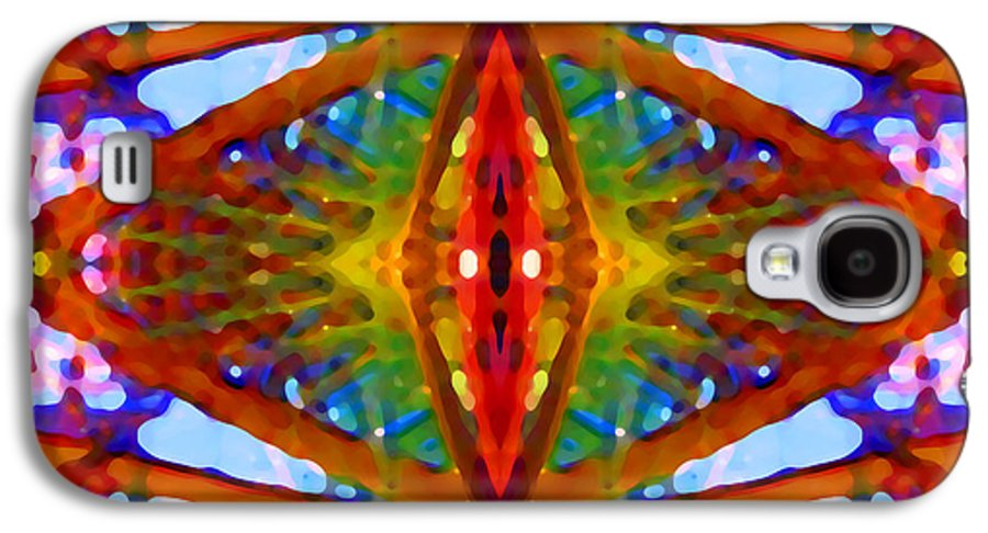 Abstract Galaxy S4 Case featuring the painting Tropical Stained Glass by Amy Vangsgard