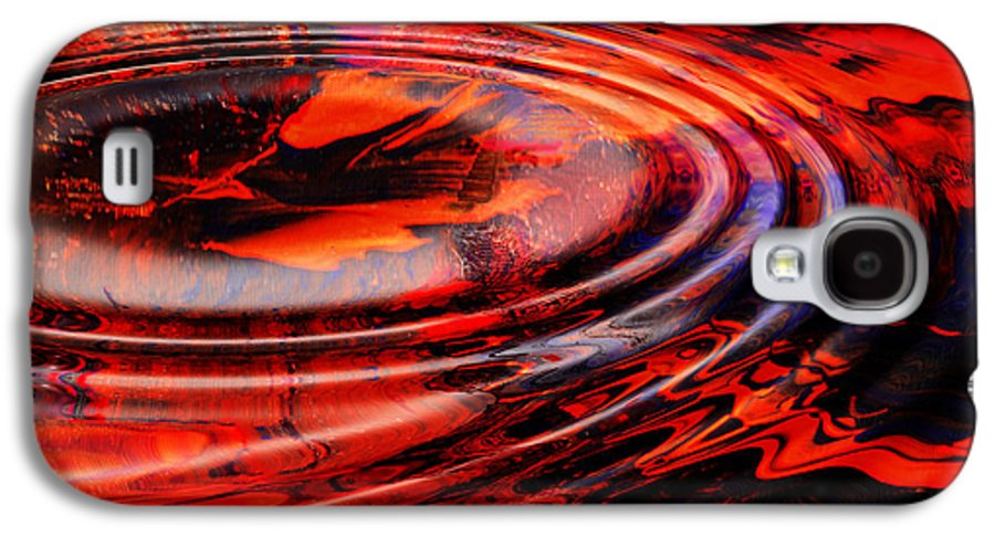 Abstract Reds Galaxy S4 Case featuring the digital art Vortex by Patricia Motley