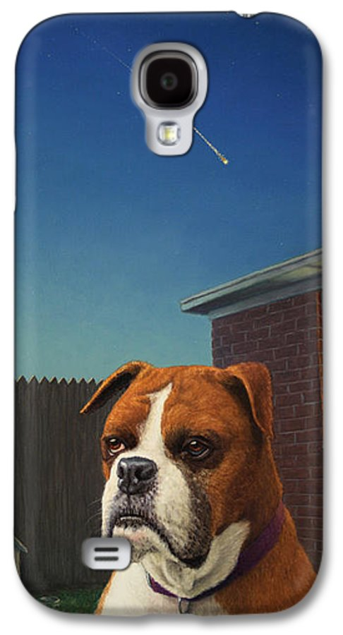 Watchdog Galaxy S4 Case featuring the painting Watchdog by James W Johnson