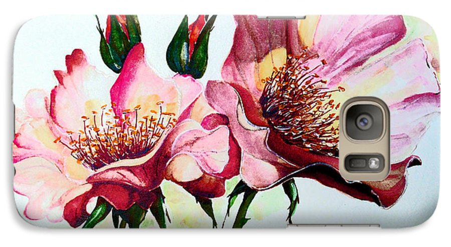 Flower Painting Galaxy S7 Case featuring the painting A Rose Is A Rose by Karin Dawn Kelshall- Best