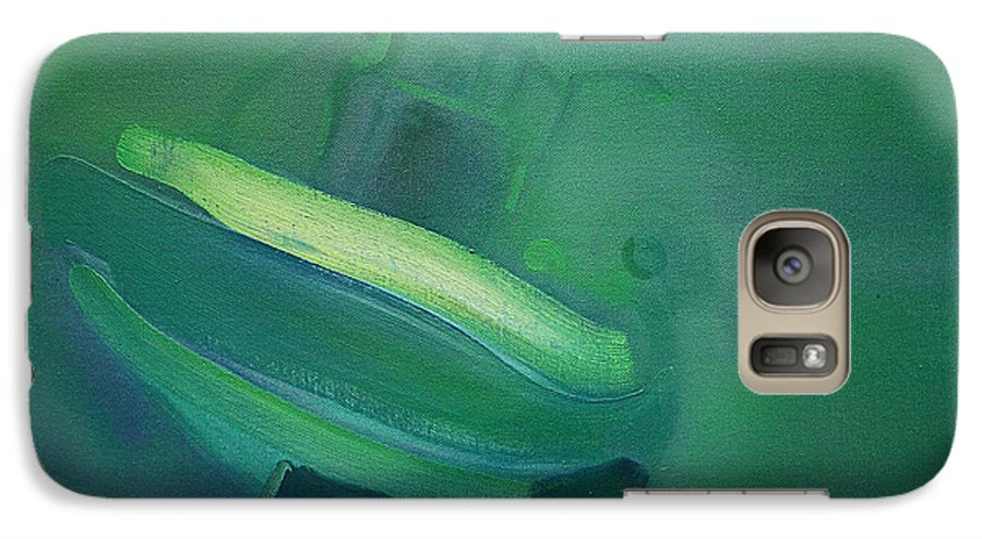 Fishing Boat Galaxy S7 Case featuring the painting Alvor Working Boat by Charles Stuart