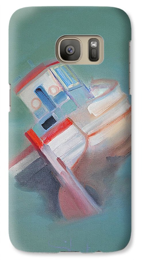 Fishing Boat Galaxy S7 Case featuring the painting Boat Retired Tavira by Charles Stuart