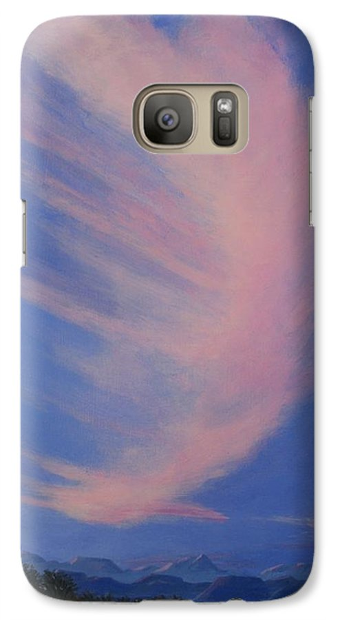 Western Galaxy S7 Case featuring the painting Cowboy Wakeup Call by Janis Mock-Jones