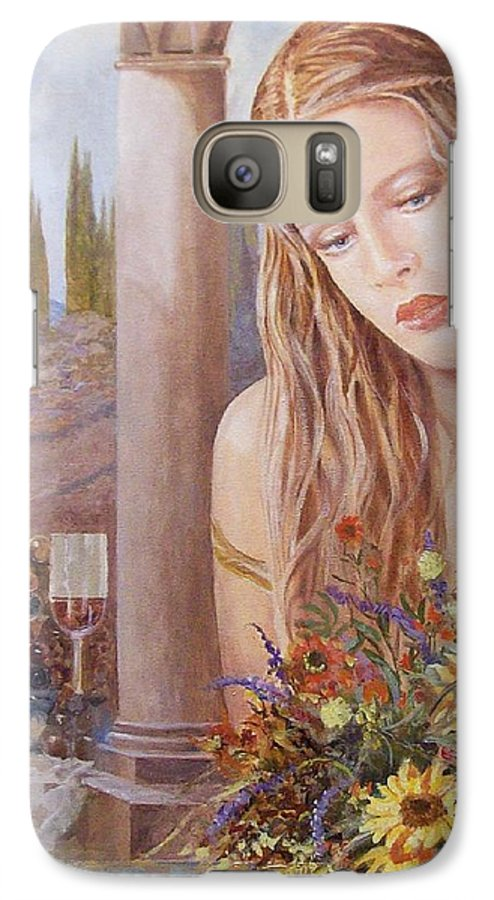 Portrait Galaxy S7 Case featuring the painting Summer Day by Sinisa Saratlic