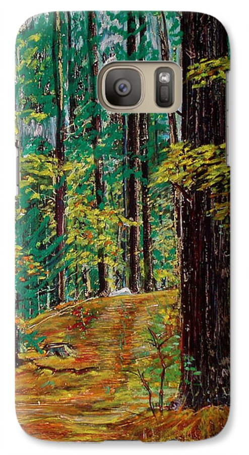 New Hampshire Galaxy S7 Case featuring the painting Trail At Wason Pond by Sean Connolly