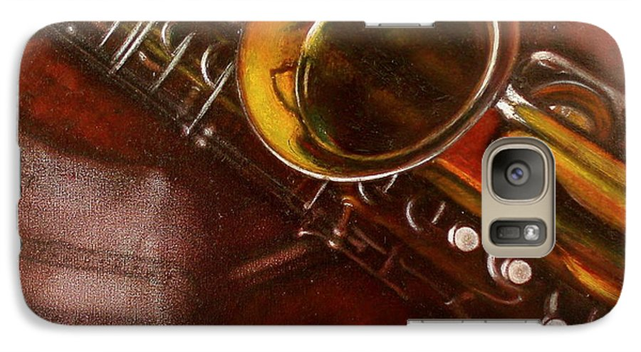 Still Life Galaxy S7 Case featuring the painting Unprotected Sax by Sean Connolly