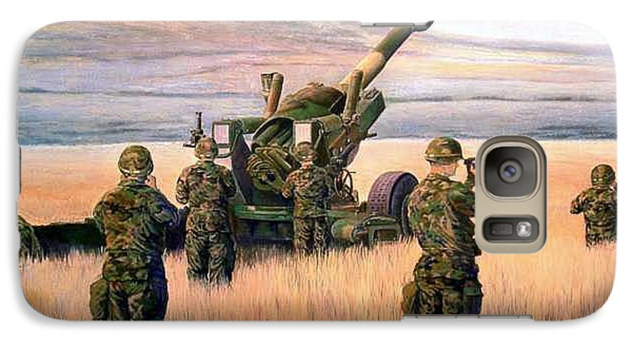 Signed And Numbered Prints Of The Montana National Guard Galaxy S7 Case featuring the print 1-190th Artillery by Scott Robertson