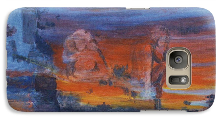 Abstract Galaxy S7 Case featuring the painting A Mystery Of Gods by Steve Karol