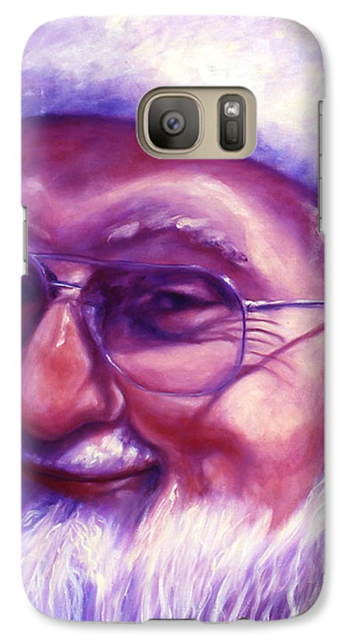 Portrait Galaxy S7 Case featuring the painting Are You Sure You Have Been Nice by Shannon Grissom