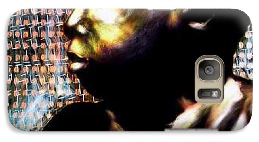 Portrait Galaxy S7 Case featuring the mixed media Big Baby Boy by Chester Elmore