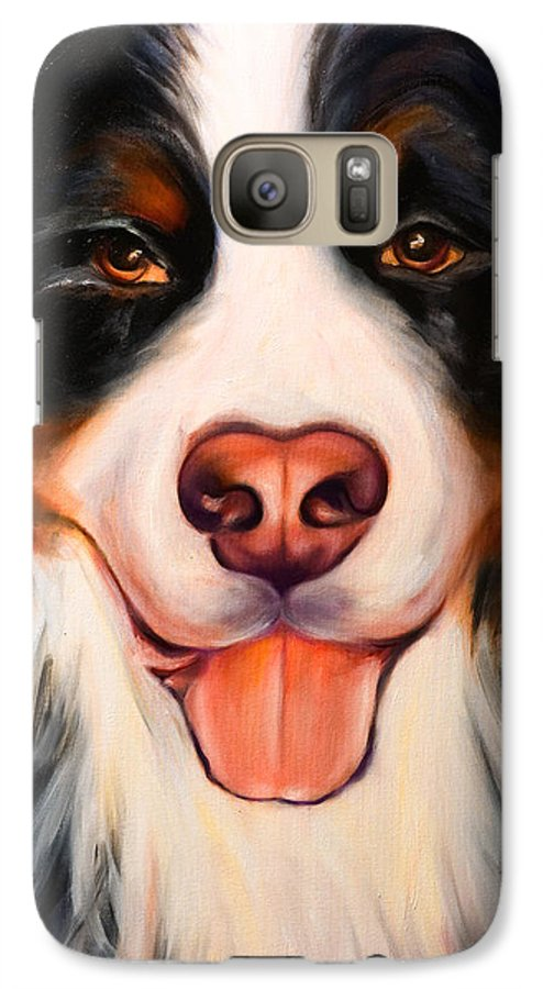 Dog Galaxy S7 Case featuring the painting Big Willie by Shannon Grissom