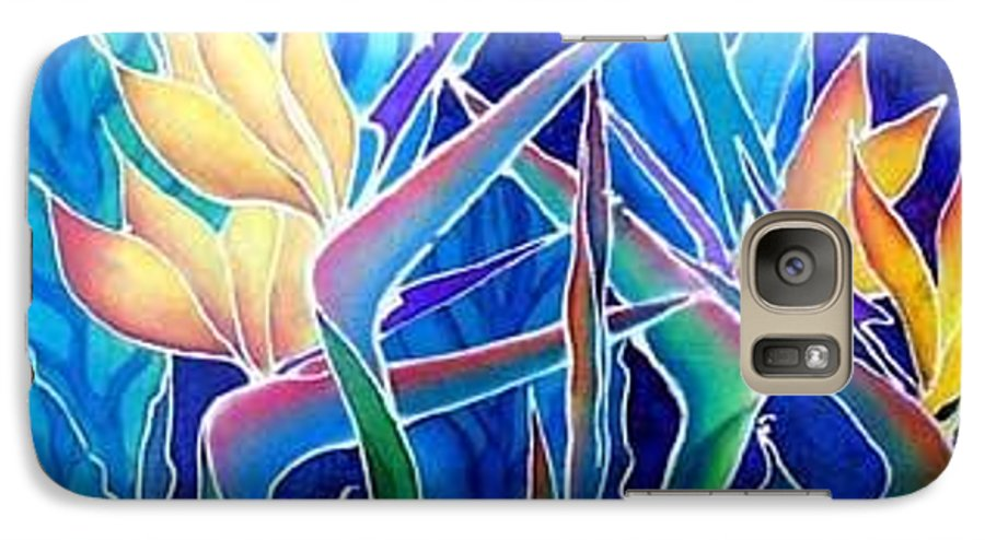 Silks Galaxy S7 Case featuring the painting Birds Of Paradise by Francine Dufour Jones