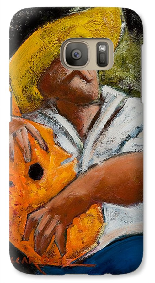 Puerto Rico Galaxy S7 Case featuring the painting Bravado Alla Prima by Oscar Ortiz