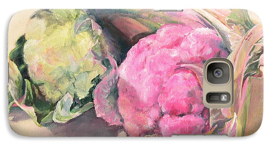 Flower Galaxy S7 Case featuring the painting Choux by Muriel Dolemieux