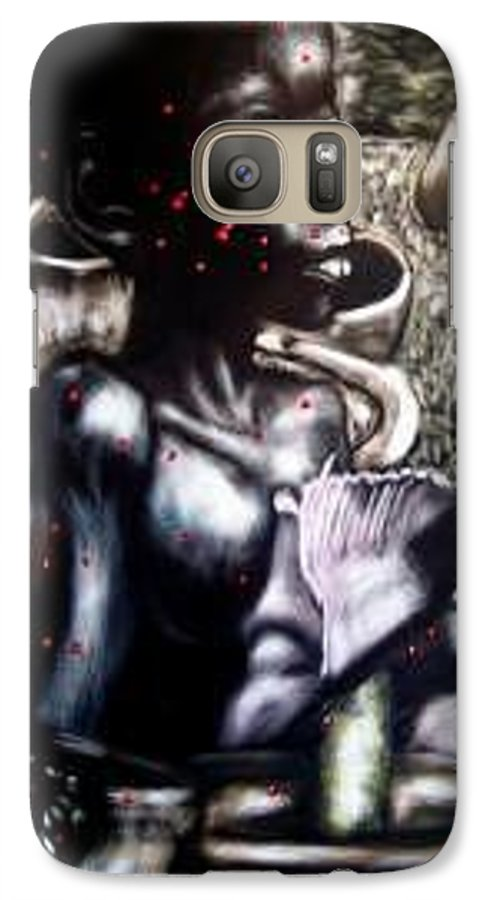 Commentary Galaxy S7 Case featuring the mixed media Death Of A Thousand Cuts by Chester Elmore
