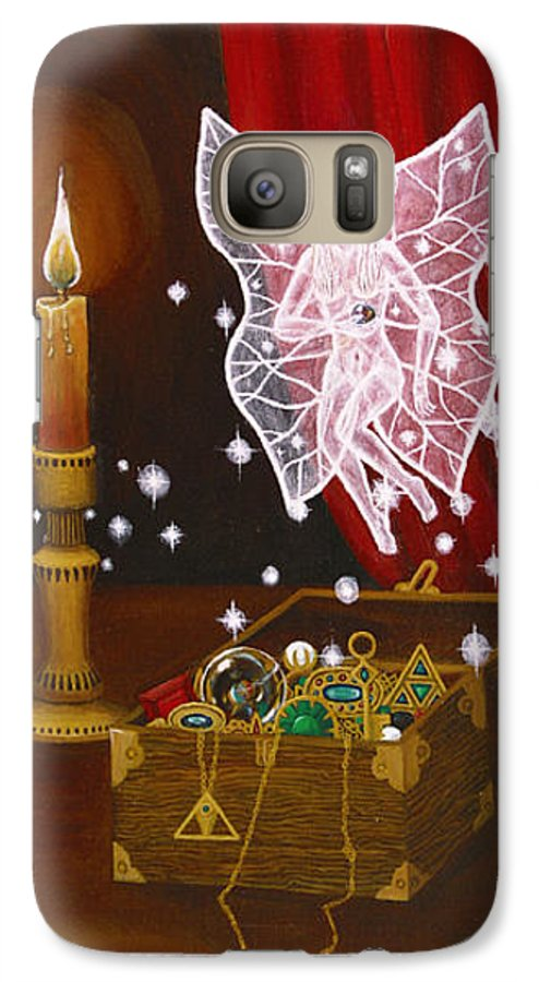 Fairy Galaxy S7 Case featuring the painting Fairy Treasure by Roz Eve