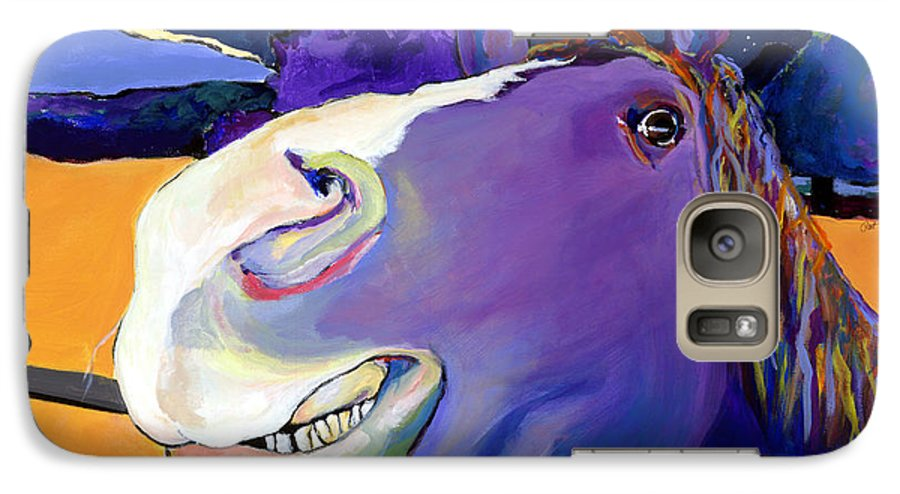 Barnyard Animal Galaxy S7 Case featuring the painting Got Oats   by Pat Saunders-White