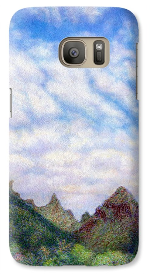 Coastal Decor Galaxy S7 Case featuring the painting Island Sky by Kenneth Grzesik