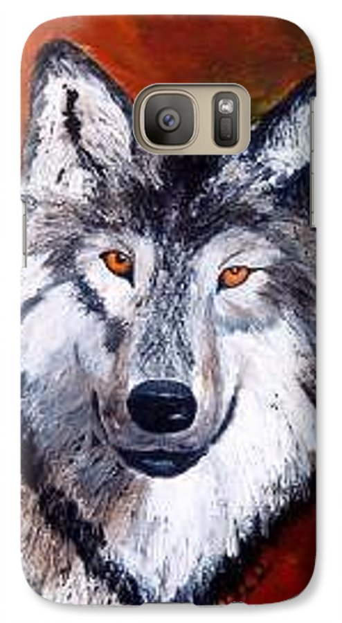 Palette Knife Galaxy S7 Case featuring the painting Look Into My Eyes by Tami Booher