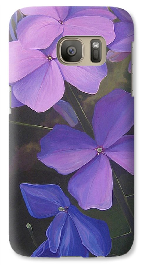 Closeup Of Colorado Wildflower Near Durango Galaxy S7 Case featuring the painting Lush Life by Hunter Jay