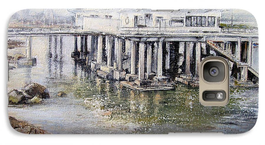 Maritim Galaxy S7 Case featuring the painting Maritim Club Castro Urdiales by Tomas Castano