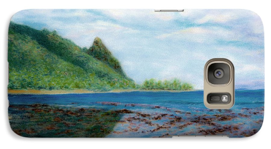 Rainbow Colors Pastel Galaxy S7 Case featuring the painting Reef Walk by Kenneth Grzesik
