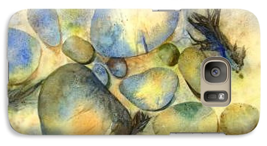 Rocks And Feathers Galaxy S7 Case featuring the painting Rocks And Feather by Marlene Gremillion