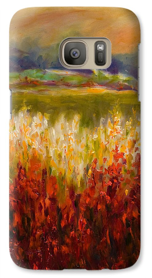 Landscape Galaxy S7 Case featuring the painting Santa Rosa Valley by Shannon Grissom