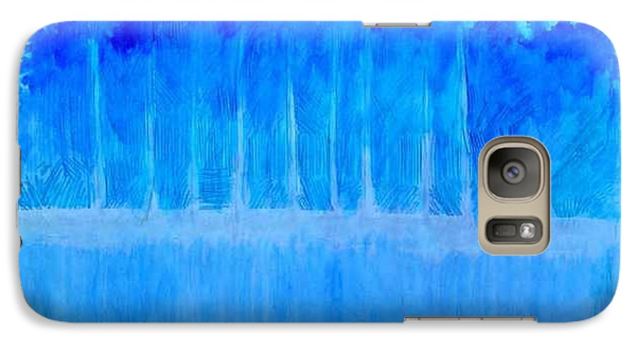 A Foggy Scene During Winter When The Temperature Can Be Seen And Felt In The Air. Galaxy S7 Case featuring the mixed media Shivering Timbers by Seth Weaver