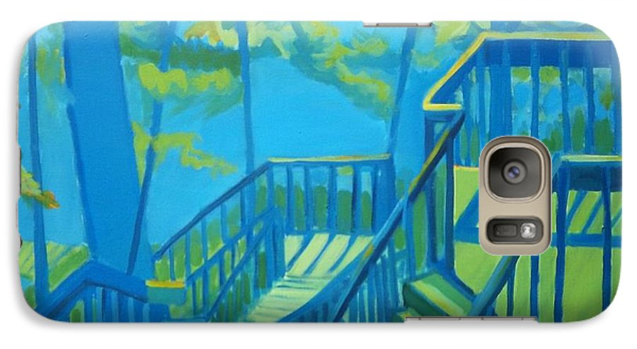 New Hampshire Galaxy S7 Case featuring the painting Suncook Stairwell by Debra Robinson