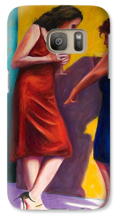 Figurative Galaxy S7 Case featuring the painting There by Shannon Grissom