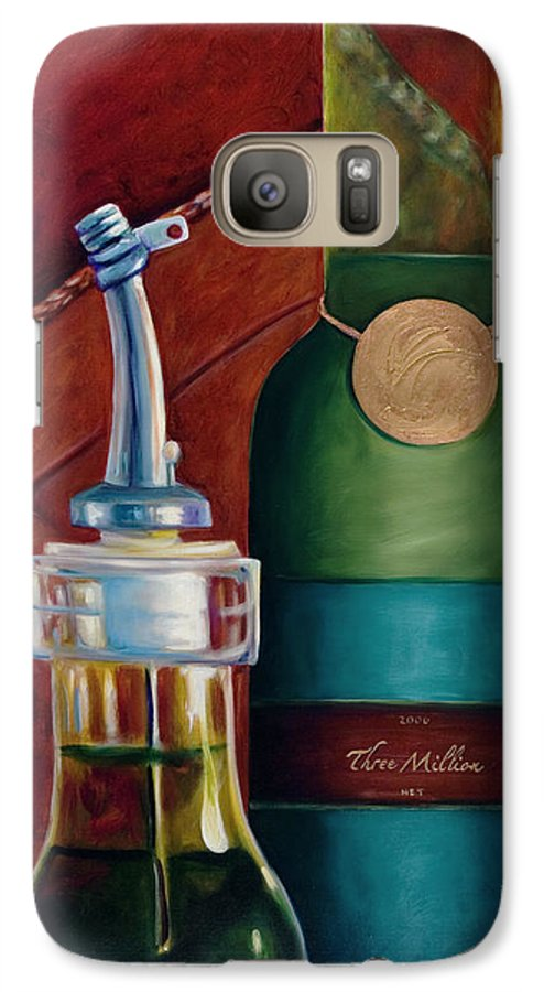 Olive Oil Galaxy S7 Case featuring the painting Three Million Net by Shannon Grissom