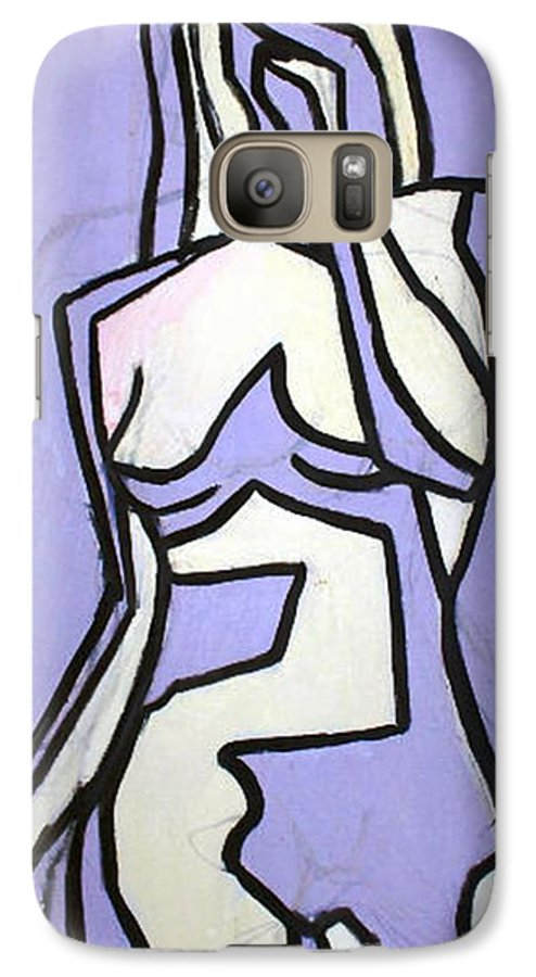 Nudes Galaxy S7 Case featuring the painting Three by Thomas Valentine