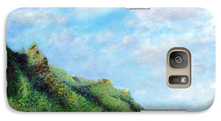 Coastal Decor Galaxy S7 Case featuring the painting Tondo by Kenneth Grzesik