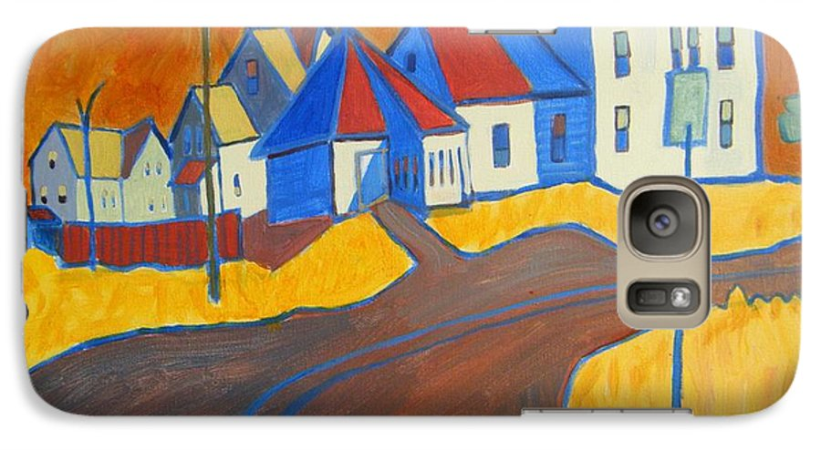 Buildings Galaxy S7 Case featuring the painting Town Center Plaistow Nh by Debra Robinson