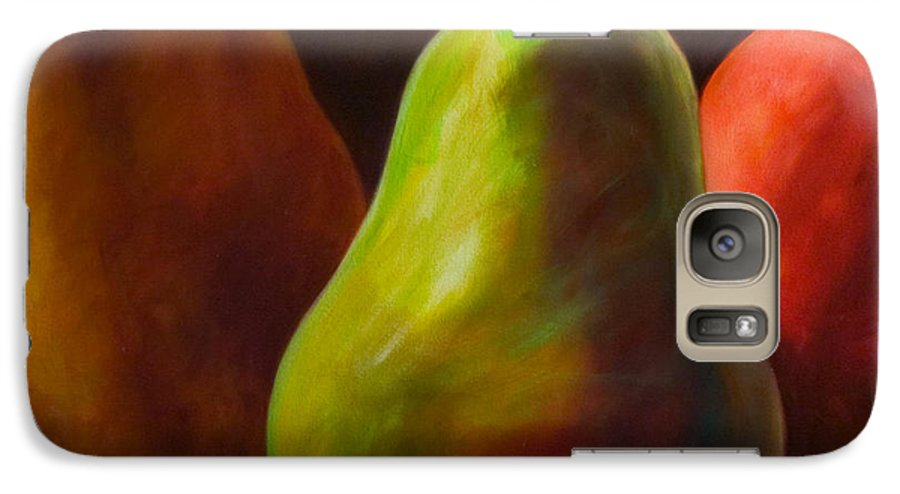 Fruit Galaxy S7 Case featuring the painting Tri Pear by Shannon Grissom