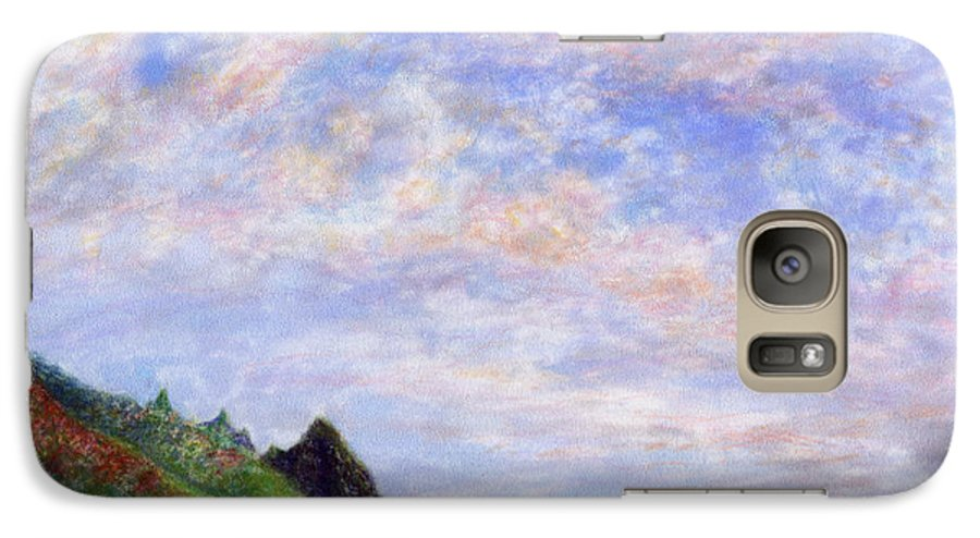 Rainbow Colors Pastel Galaxy S7 Case featuring the painting Tunnels Vision by Kenneth Grzesik