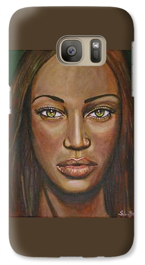 Woman Galaxy S7 Case featuring the painting Tyra by Sarah-Lynn Brown