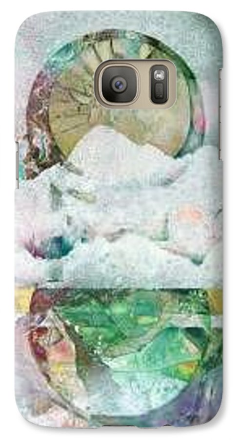 Abstract Galaxy S7 Case featuring the painting Winter Solstice by Marlene Gremillion
