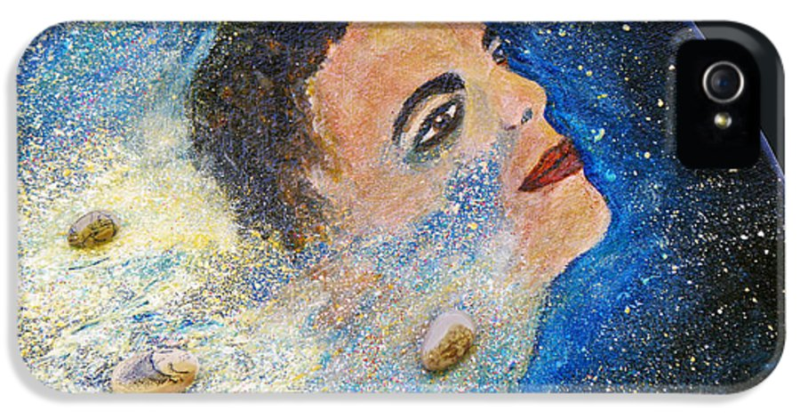 Barack Obama IPhone 5 / 5s Case featuring the painting Barack Obama Stars by Augusta Stylianou