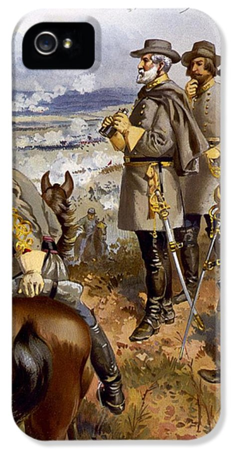 Military IPhone 5 / 5s Case featuring the painting Battle Of Fredericksburg by American School
