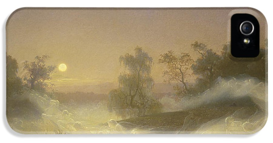 Spirit IPhone 5 / 5s Case featuring the painting Dancing Fairies by August Malmstrom