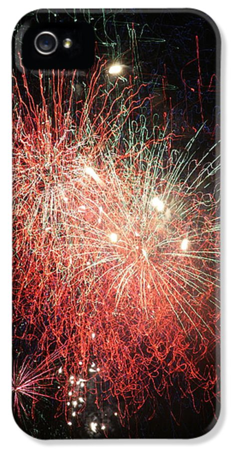 Fireworks IPhone 5 / 5s Case featuring the photograph Fireworks by Alan Hutchins