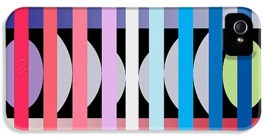 Contemporary IPhone 5 / 5s Case featuring the painting Fun Geometric by Mark Ashkenazi
