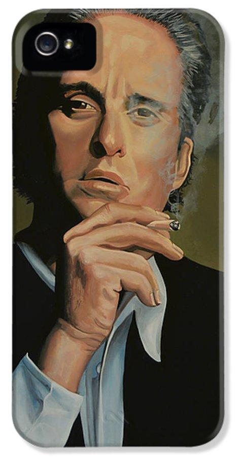 Michael Douglas IPhone 5 / 5s Case featuring the painting Michael Douglas by Paul Meijering