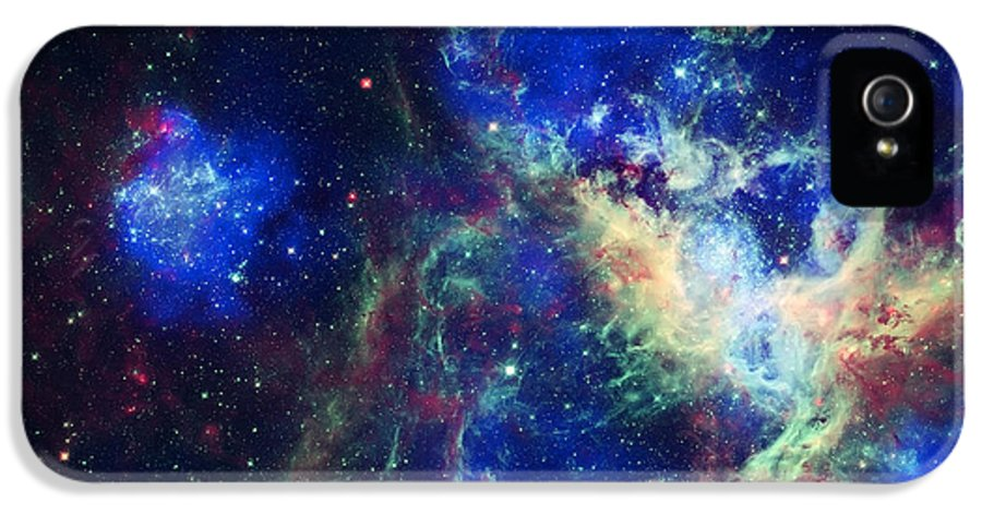 Tarantula Nebula IPhone 5 / 5s Case featuring the photograph Tarantula Nebula 3 by The Vault - Jennifer Rondinelli Reilly
