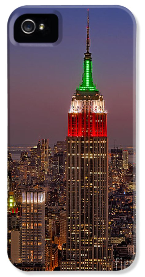 Empire State Building IPhone 5 / 5s Case featuring the photograph Top Of The Rock by Susan Candelario
