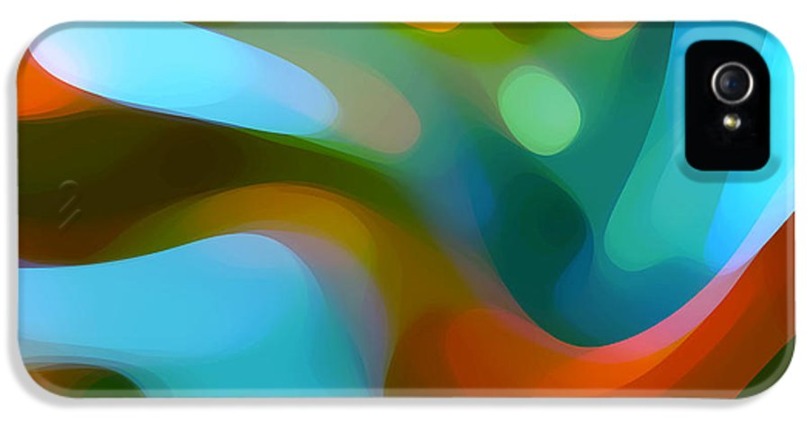Abstract IPhone 5 / 5s Case featuring the painting Tree Light 1 by Amy Vangsgard