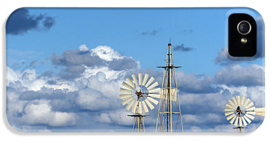Alternative IPhone 5 / 5s Case featuring the photograph Water Windmills by Stelios Kleanthous